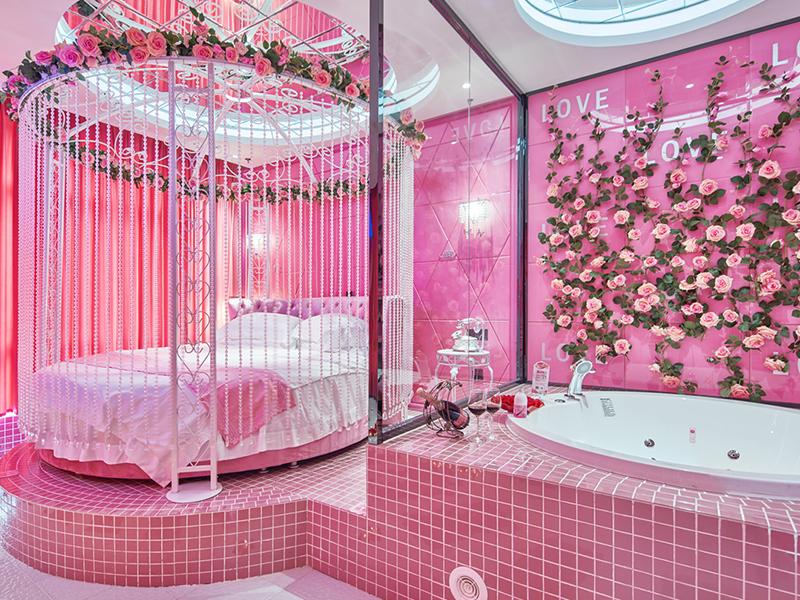 浪漫主题酒店 万爱情侣酒店预订 石家庄市 新百广场店